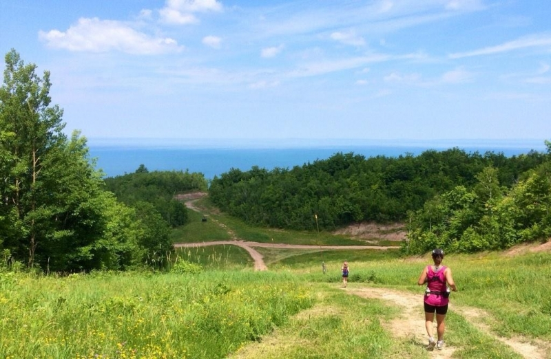 """@thenorthface Marathon w/view of #NiagaraEscarpment"""